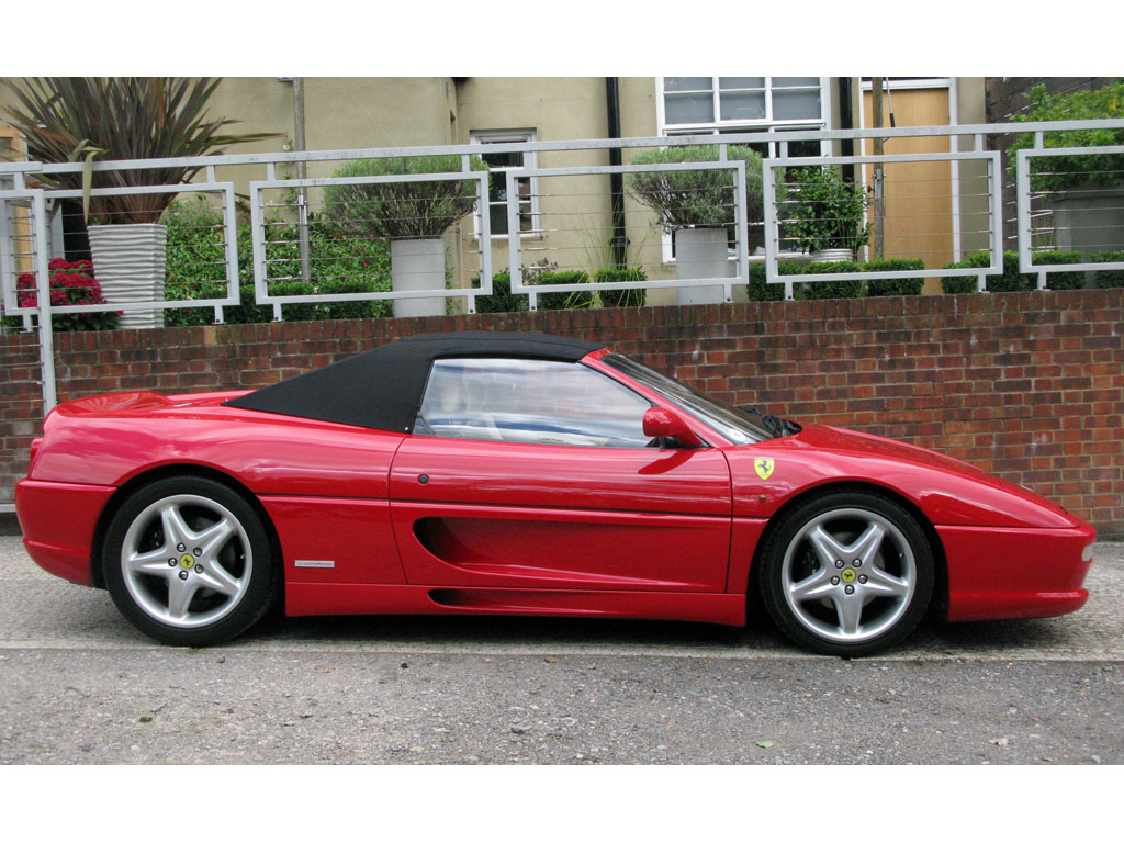 FERRARI F355 SPIDER MANUAL RED